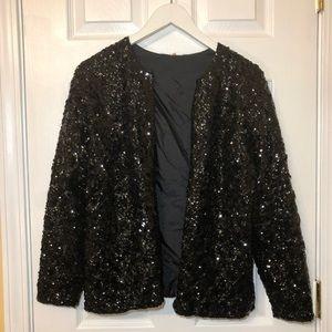 Jackets & Blazers - Black long sleeve sequin blazer